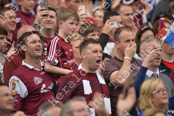 Galway-supporters-18035   Galway supporters celebrate after Galway win the All Ireland Hurling final at Croke PArk. Photo: Ray Ryan