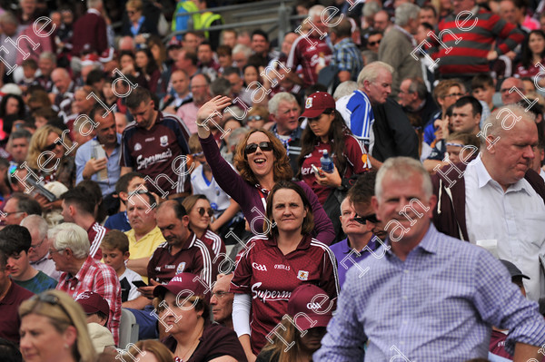 Galway-Hurling-Supporters-17771   Galway supporters celebrate after Galway win the All Ireland Hurling final at Croke PArk. Photo: Ray Ryan