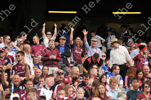 Galway-Hurling-Supporters-17784   Galway supporters celebrate after Galway win the All Ireland Hurling final at Croke PArk. Photo: Ray Ryan