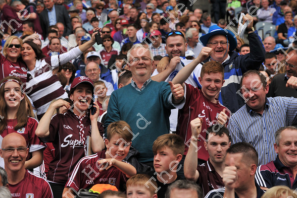 Galway-Hurling-Supporters-17795   Galway supporters celebrate after Galway win the All Ireland Hurling final at Croke PArk. Photo: Ray Ryan