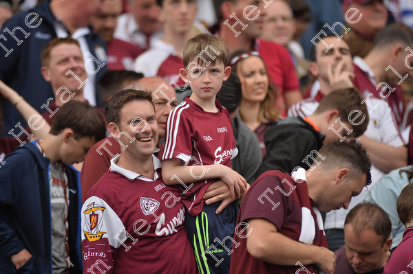 Galway-supporters-18037   Galway supporters celebrate after Galway win the All Ireland Hurling final at Croke PArk. Photo: Ray Ryan
