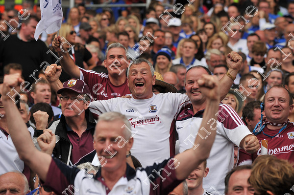 Galway-Hurling-Supporters-17824   Galway supporters celebrate after Galway win the All Ireland Hurling final at Croke PArk. Photo: Ray Ryan